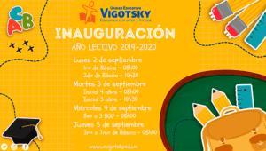 Iniciamos clases 2019-2020. Bienvenidos!