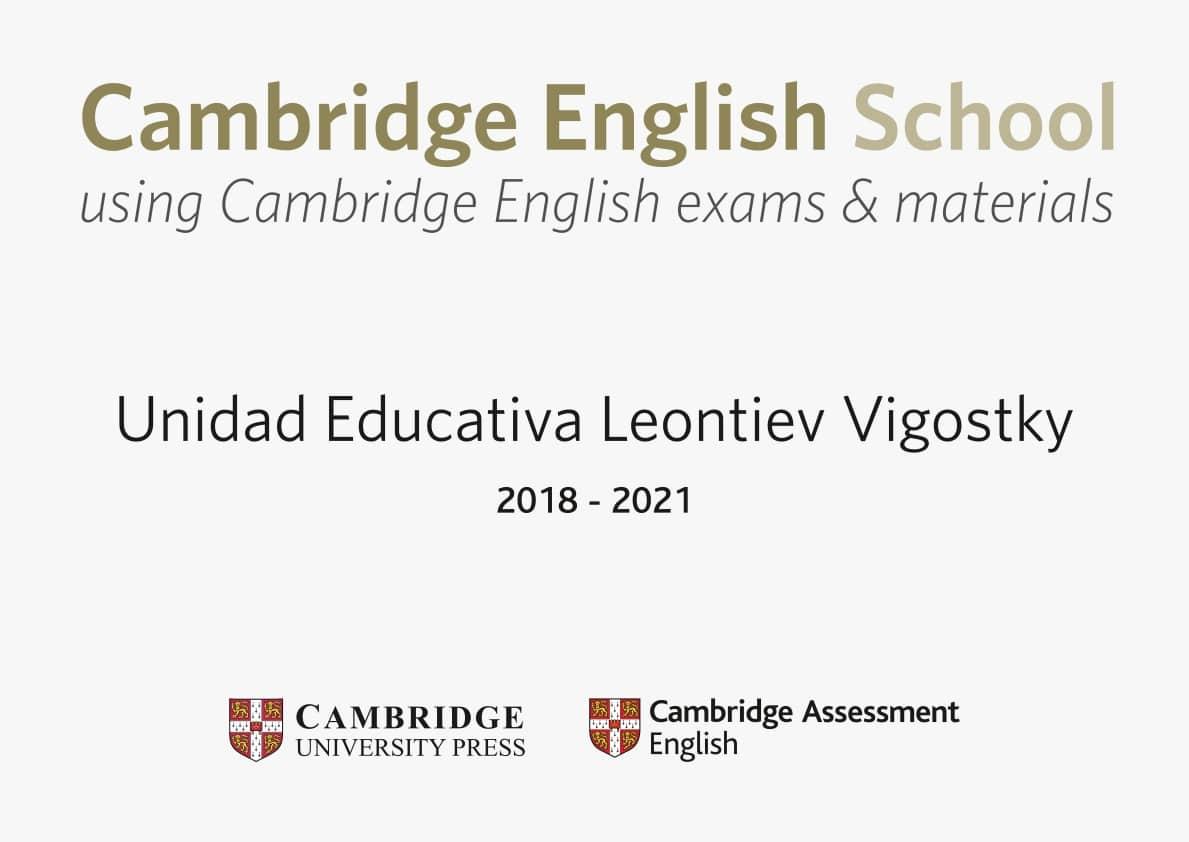 Unidad Educativa Vigotsky recibe reconocimiento como una Cambridge School