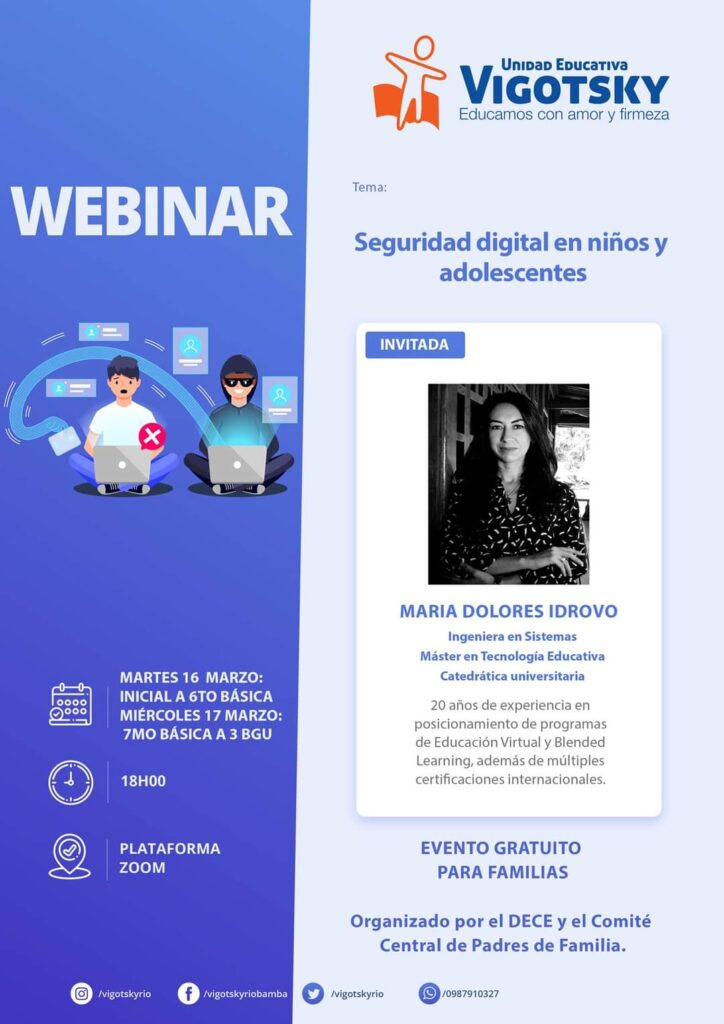 Webinae seguridad digital para niños
